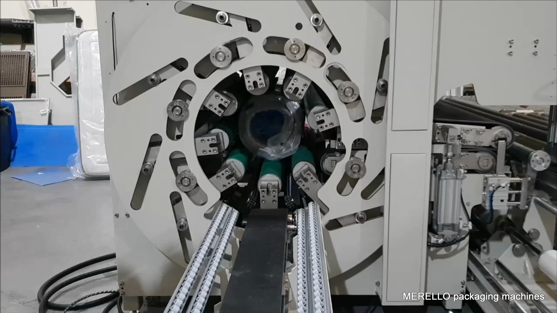 maquina enrrolladora de colchones y toppers linea completa